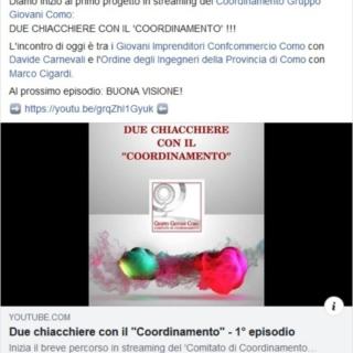 DUE CHIACCHIERE CON IL COORDINAMENTO 1° episodio https://bit.ly/2UgHOVG